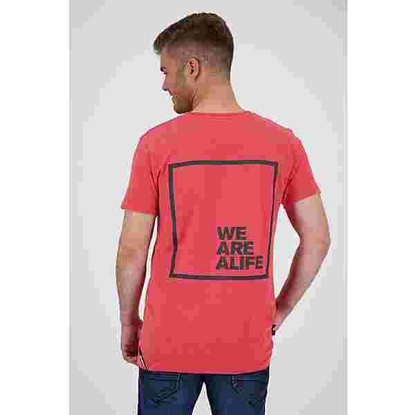 ALIFE AND KICKIN Logo PocketAK T-Shirt Herren fiesta