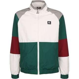 STARTER Color Block Retro Trainingsjacke Herren weiß/grün