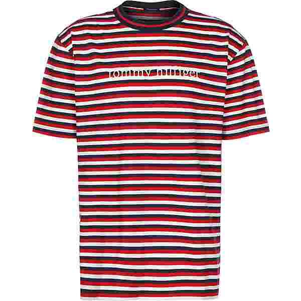 Tommy Hilfiger Logo Stripe T-Shirt Herren rot/weiß/gestreift