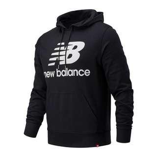 NEW BALANCE Essentials Stacked Logo Hoody Sweatshirt schwarz