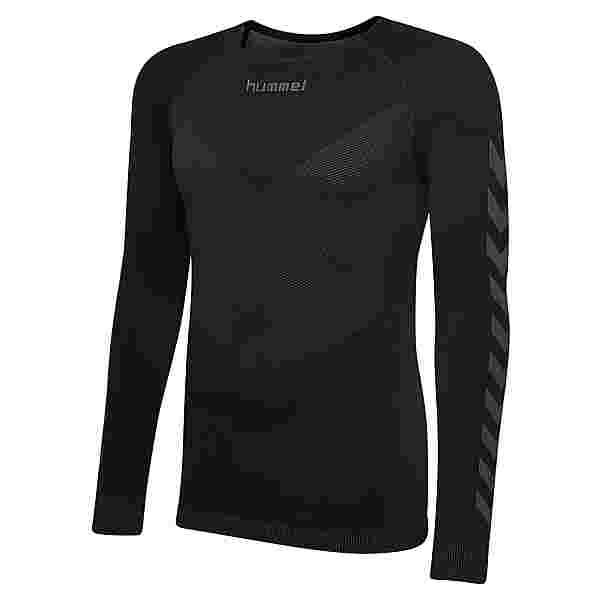 hummel HUMMEL FIRST SEAMLESS JERSEY L/S T-Shirt Herren BLACK