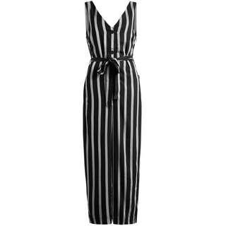 Khujo MARGOT Jumpsuit Damen schwarz-grau gestreift