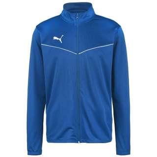 PUMA teamRISE Poly Trainingsjacke Herren blau / weiß