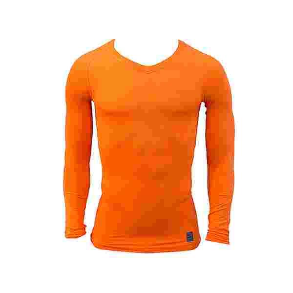 Nike Pro Lightweight Seamless Langarmshirt Funktionsshirt Herren orange
