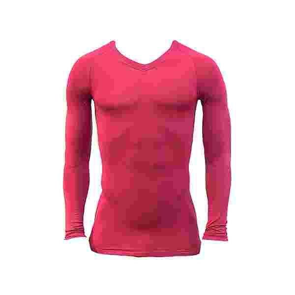 Nike Pro Lightweight Seamless Langarmshirt Funktionsshirt Herren pinkschwarz