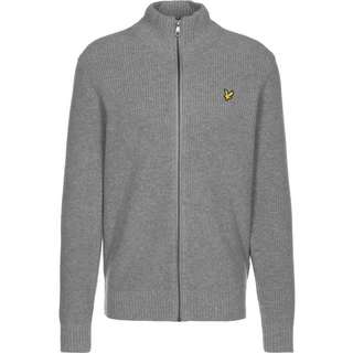 Lyle & Scott Knitted RIB Zip Through Strickjacke Herren grau/meliert