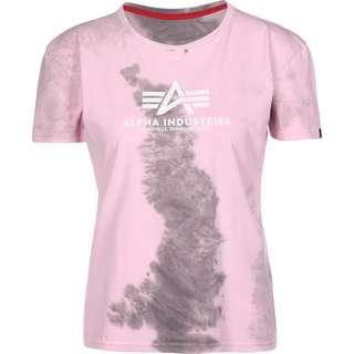 Alpha Industries Basic Batik T-Shirt Damen pink