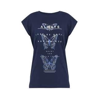 Finn Flare Printshirt Damen dark blue