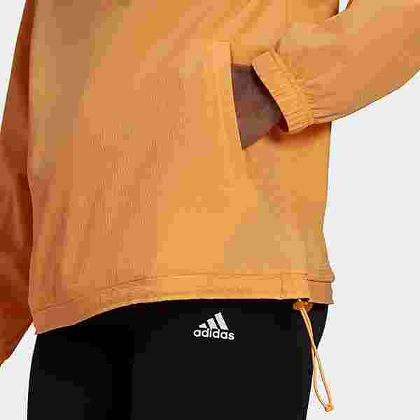 adidas Essentials Gradient Anorak Windbreaker Outdoorjacke Damen Hazy Orange / Wild Pink