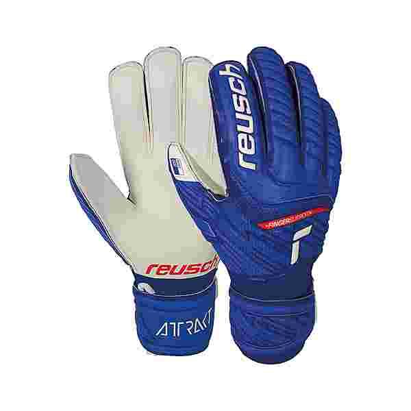 Reusch Attrakt Grip Finger Support Torwarthandschuhe Kinder deep blue / white