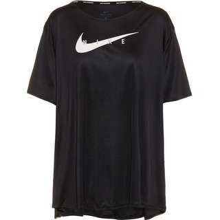 Nike Swoosh Run Funktionsshirt Damen black-reflective silv