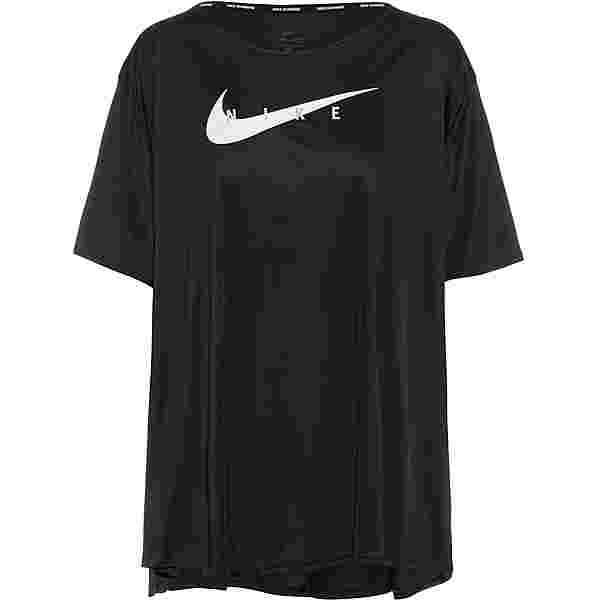Nike Swoosh Run Funktionsshirt Damen black-reflective silv