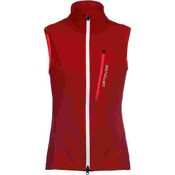 ORTOVOX Pala Softshell Weste Damen dark blood