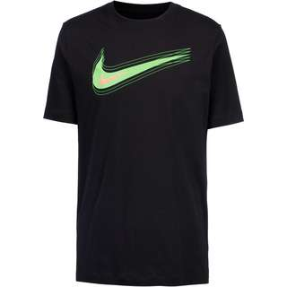 Nike NSW Swoosh T-Shirt Herren black-mean green