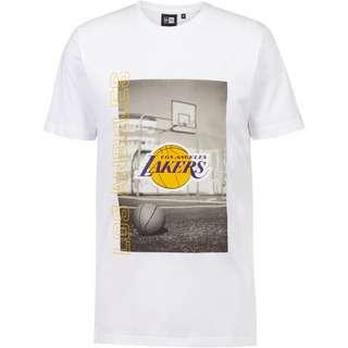 New Era Los Angeles Lakers T-Shirt Herren white