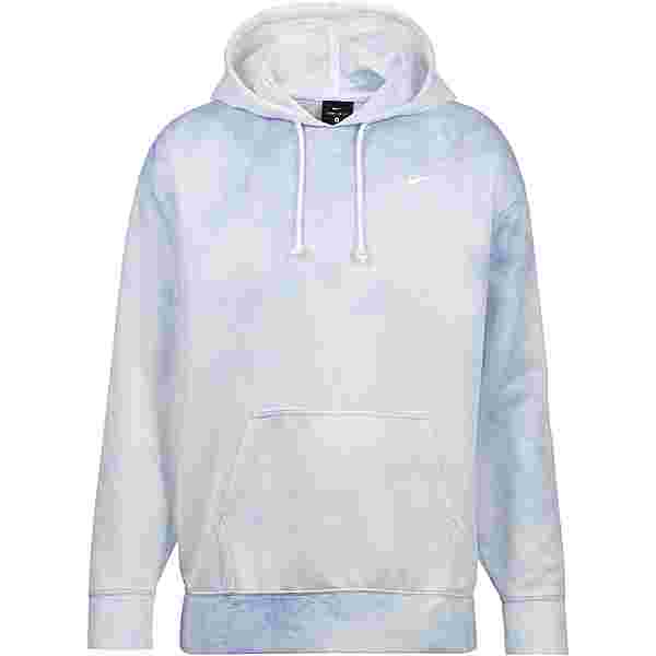 Nike Hoodie Damen lt racer blue-white