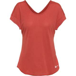 Nike Breathe Cool Funktionsshirt Damen canyon rust/reflective silv
