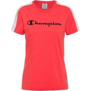 CHAMPION T-Shirt Damen orange-white