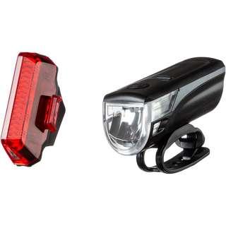 Contec Speed-LED Fahrradbeleuchtung schwarz-cool grey