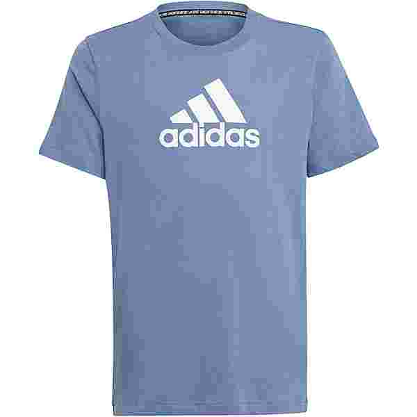 adidas T-Shirt Kinder crew blue-white