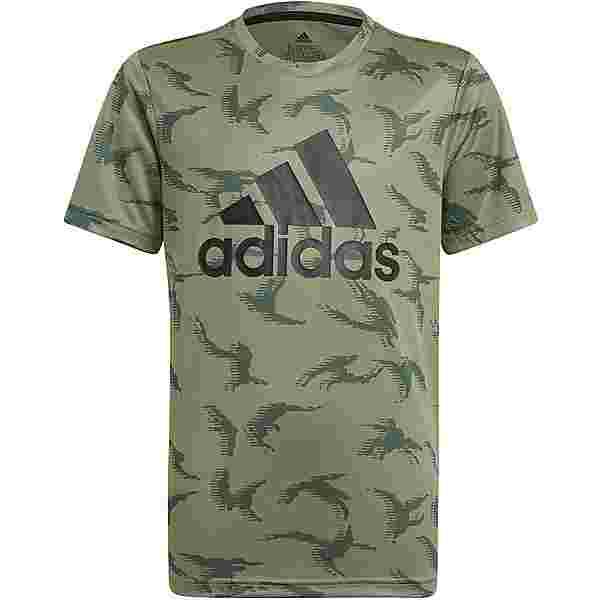 adidas Designed 2 Move T-Shirt Kinder legacy green-black