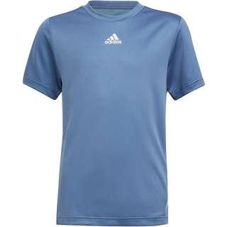 adidas AEROREADY T-Shirt Kinder crew blue-hazy blue-white
