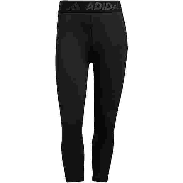 adidas 3 BAR TECH-FIT AEROREADY Tights Damen black-white
