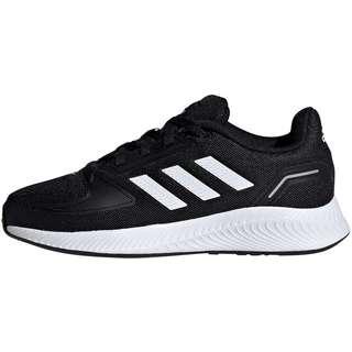 adidas RUNFALCON 2.0 Laufschuhe Kinder core black-ftwr white-silver met.