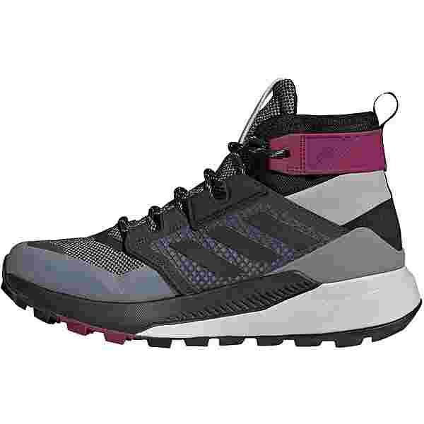 adidas GTX Trailmaker Mid Wanderschuhe Damen metal grey-core black-power berry