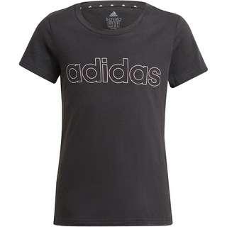 adidas Essentials Linear T-Shirt Kinder black-white