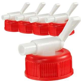 anaterra 5er Set Ablasshahn für 10 L Kanister Kanister Rot