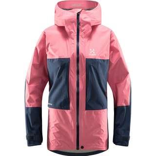 Haglöfs GORE-TEX Roc Sheer GTX Jacket Hardshelljacke Damen Tulip Pink/Tarn Blue