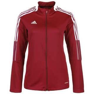 adidas Tiro 21 Trainingsjacke Damen rot / weiß