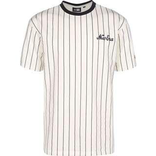 New Era Pinstripe Oversized T-Shirt Herren beige/gestreift