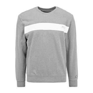 REPLAY mit Kontrast-Print Sweatshirt Herren medium grey melange