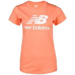 NEW BALANCE Essentials Stacked Logo T-Shirt Damen pink