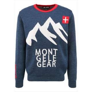 Mont Gele Gear Pullover Strickpullover Herren blau/ weiß