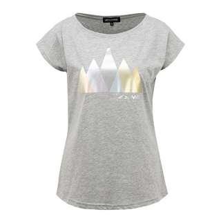 Mont Gele Gear Baumwoll-T-Shirt T-Shirt Damen grau