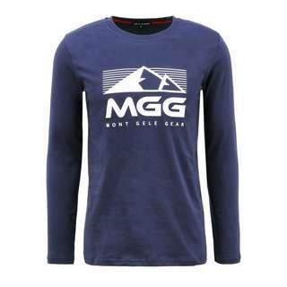 Mont Gele Gear Langarm Baumwoll-T-Shirt Langarmshirt Herren blau