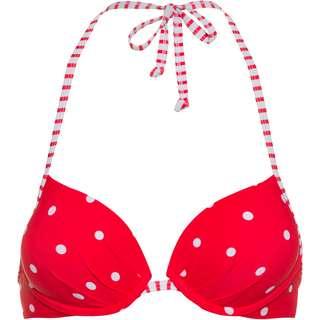 S.OLIVER Bikini Oberteil Damen rot-weiß gepunktet