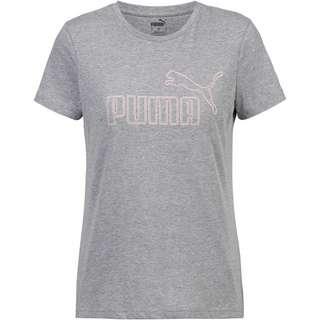 PUMA T-Shirt Damen medium gray heather