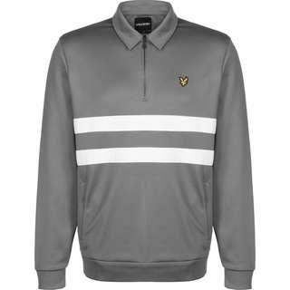 Lyle & Scott Wide Stripe 1/4 Zip Sweatshirt Herren grau
