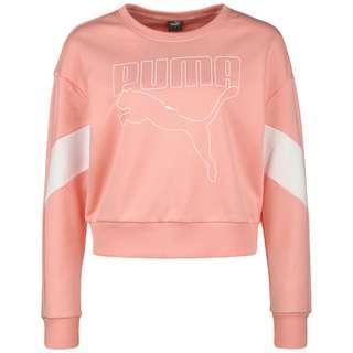 PUMA Rebel Crew Sweatshirt Damen apricot / weiß