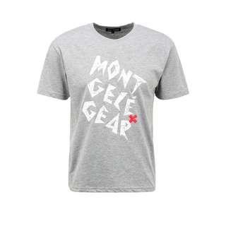 Mont Gele Gear Baumwoll-T-Shirt T-Shirt Herren grau