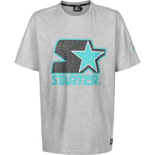 STARTER Logo T-Shirt Herren grau/meliert