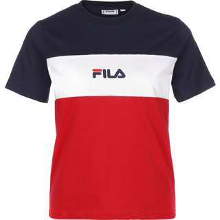 FILA Anokia Blocked T-Shirt Damen rot/blau