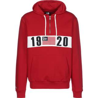 New Era Colour Blocked 1920 Half Zip Hoodie Herren rot