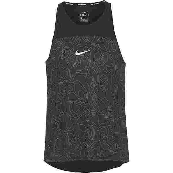 Nike Miler Run Division Funktionstank Damen black/reflective silv