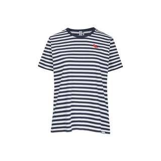 Cleptomanicx Gull Stripe 2 T-Shirt Herren Dark Navy