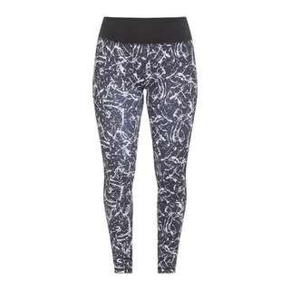 LASCANA Active Tights Damen schwarz-marmoriert-weiß